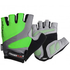 Велоперчатки PowerPlay 5004 C Зеленые M