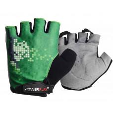 Велоперчатки PowerPlay 002 C Зеленые M